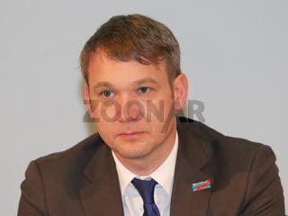 Landesvorsitzender der AfD in Sachsen-Anhalt André Poggenburg während einer Wahlkampfveranstaltung der AfD zur Landtagswahl Sachsen-Anhalt 2016