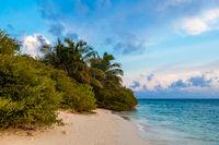 Maldives the beach