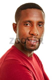 Afrikanischer Student lächelt