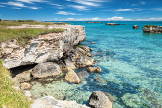Crystal clear waters in Puglia