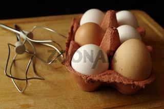 Eier und Rührhaken