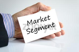 Market segment text concept