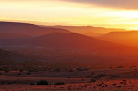 sunrise in the landscape of Namibia, Palmwag concession