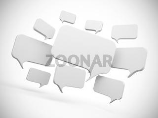 Social Network Concept - Weisse Sprechblasen