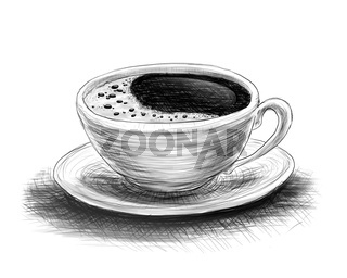 sketch of coffee