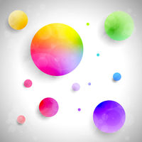 Vector set of colored balls