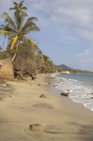 Secluded beach at Parque Tayrona (Colombia)