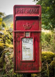 Vintage Rural British Post Box