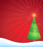 Stylized Christmas tree topic image 2 - picture illustration.