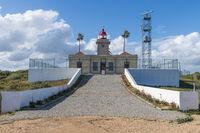 The lighthouse and the radar facility at Ponta da Piedade
