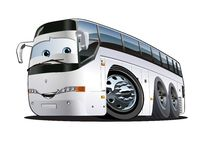 Cartoon Tourist Bus