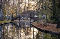 Pedestrian bridge over the river Spree at the harb