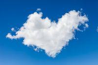 Cloud in heart shape