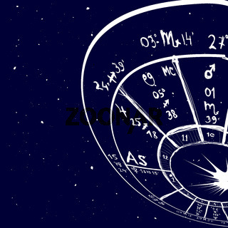 Astrology hand-drawn background