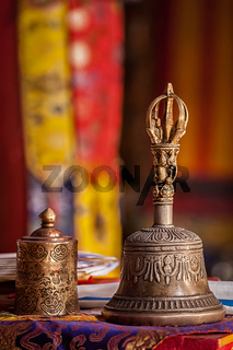 Religious bell in Buddhist monastery