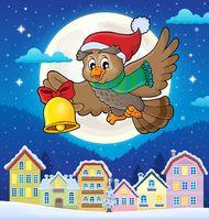 Christmas owl theme image 4 - picture illustration.