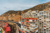 Typical highrise house of Alicante city. Costa Blanca. Spain