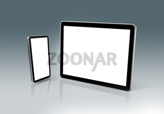 High Tech mobile phone and digital tablet pc
