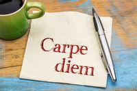 Carpe Diem on napkin