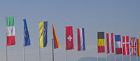 many different flags