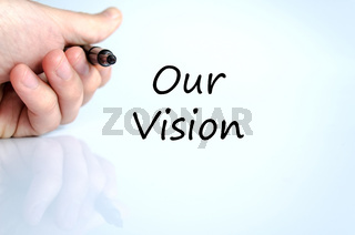 Our vision text concept