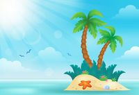 Tropical island theme image 2 - picture illustration.