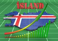 map illustration of Iceland with flag