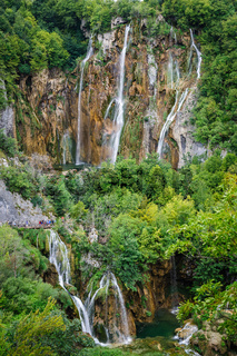 Waterfalls in Plitvice Lakes National Park, Croatia