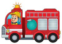 Fire truck theme image 4 - picture illustration.
