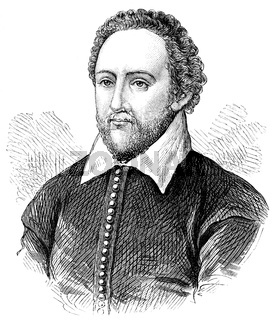 Sir Richard Burbage or Burbadge, 1567-1619, an English stage actor