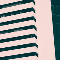 Abstract minimal style architecture background. Modern building facade detai