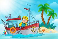 Fishing boat theme image 5 - picture illustration.