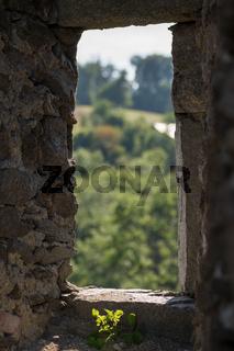 Burgfenster der Burg Schaunberg - Austria