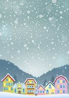 Winter theme with Christmas town image 3 - picture illustration.