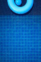 Swim ring in swimming pool