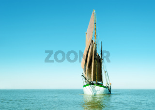 Lonely sailing ship