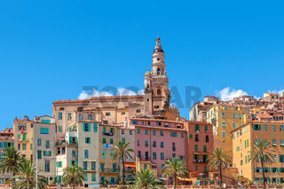 Town of Menton, France.
