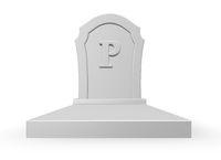Grabstein mit dem Großbuchstaben p - 3d illustration