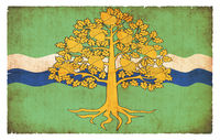 Grunge flag of Nottinghamshire (Great Britain)