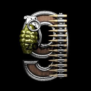 9 military letter. 3D illustration