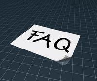 das wort faq auf papierblatt - 3d rendering