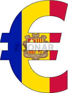 euro with flag of andorra