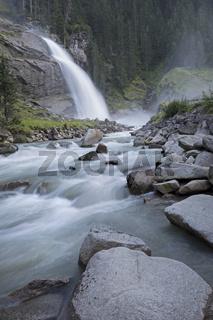 Unterer Krimmler Wasserfall, Krimml, Pinzgau, Nationalpark Hohe Tauern, Salzburg, Österreich, Europa
