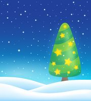 Stylized Christmas tree topic image 4 - picture illustration.
