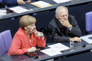 Special session of the German Parliament - consultation of German government on the financial support for Greece.