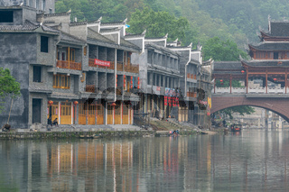 Fenghuang old town morning view