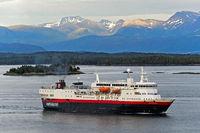 Hurtigruten passenger vessel MS Vesterålen,Norway