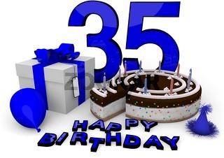 Happy Birthday in Blau