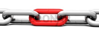 3d metallic chain links