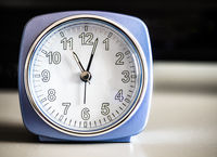 Old fashioned azure morning alarm clock